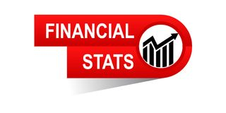 Financial stats banner. Icon on isolated white background - vector illustration Stock Images