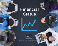 Financial Status Money Cash Growth Analysis Concept Royalty Free Stock Photos