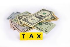 Dollar Tax Royalty Free Stock Photo