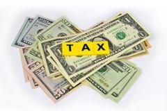Tax On Dollars Royalty Free Stock Image
