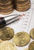 Financial stock analysis Royalty Free Stock Photo