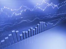 Financial Stock Bar Graph Stock Images