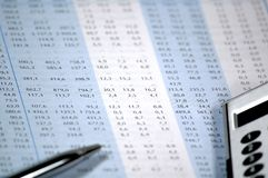 Financial and stock chart. Showing business and financial report concept of financial report Royalty Free Stock Images
