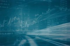 Abstract financial stock chart and cityscape in Double exposure style background. Financial stock chart and cityscape in Double exposure style background Royalty Free Stock Photo
