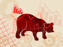 Financial and stock investment market concept. Royalty Free Stock Images