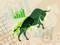 Financial and stock investment market concept. The bull market which rising price of securities are expected Stock Photography