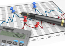 Financial stock market Stock Photography