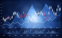 Financial stock market  graph Royalty Free Stock Images