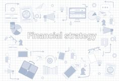 Financial Strategy Business Economic Development Plan Banner. Vector Illustration Royalty Free Stock Photography