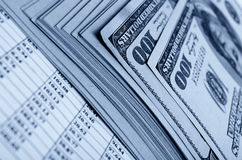 Financial strategy and statistics. Stock Images