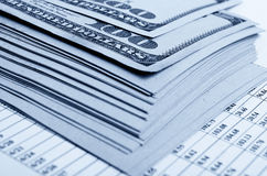 Financial strategy and statistics. Royalty Free Stock Photo