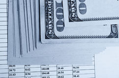 Financial strategy and statistics. Stock Photo