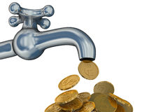 Financial stream. 3D image. Royalty Free Stock Images