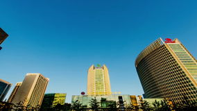 Financial Street of Beijing at afternoon stock footage
