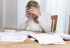 Financial stress Stock Photo