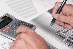 Financial study Stock Images