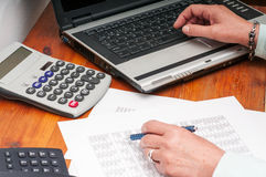 Financial study Stock Photos