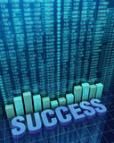 Financial Success. 3d illustration of financial success concept Royalty Free Stock Images