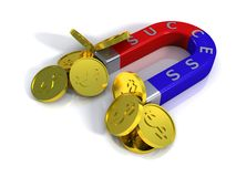 Financial success in business. Magnetic royalty free illustration