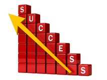 Financial success chart concept Royalty Free Stock Images
