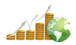 Financial success concept. Illustration design over white Royalty Free Stock Images