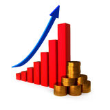 Financial success concept Royalty Free Stock Images