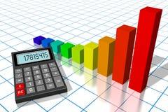 Financial success concept. 3D calculator concept - on white background Stock Photos