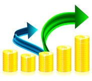 Financial success concept illustration Royalty Free Stock Photography
