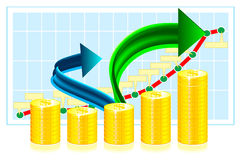 Financial success concept illustration Royalty Free Stock Image