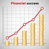 Financial success concept. Vector illustration, EPS 10 Royalty Free Stock Photos