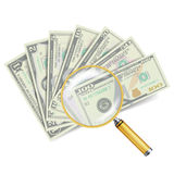 Financial Success Concept Vector.. Money Banknotes Stack Stock Image