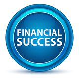 Financial Success Eyeball Blue Round Button royalty free illustration