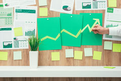 Financial success and green business Stock Photos