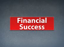 Financial Success Red Banner Abstract Background vector illustration