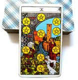 10 Ten of Pentacles Tarot Card Financial Success/Stability/Strength Success Breeding Success Permanence. Financial Success/Stability/Strength Success Breeding Royalty Free Stock Image