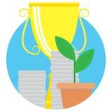 Financial success vector icon Royalty Free Stock Photos