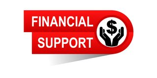 Financial support banner. Icon on isolated white background - vector illustration Stock Photos