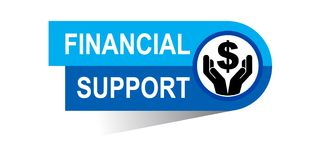 Financial support banner. Icon on isolated white background - vector illustration Royalty Free Stock Images