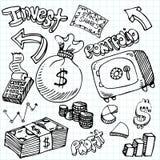 Financial Symbol Doodle Set. An image of a financial symbol doodle set Stock Photos