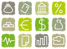Financial symbols Stock Photos