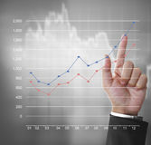 Financial symbols coming from hand. Financial symbols coming from a hand Royalty Free Stock Image