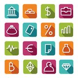 Financial symbols. Vector illustration Royalty Free Stock Photography