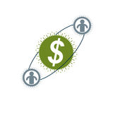 Financial System conceptual logo, unique vector symbol. Dollar s Stock Photos