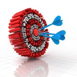 Financial target. 3d render of  target formed by financial figures Stock Photography
