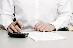 Financial tax return Royalty Free Stock Images