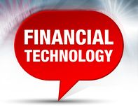 Financial Technology Red Bubble Background royalty free illustration