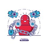 Financial technology security icons. Vector illustration design Royalty Free Stock Image