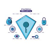 Financial technology security icons. Vector illustration design Stock Photography