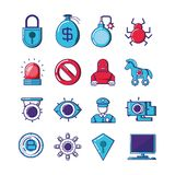 Financial technology set icons. Vector illustration design Stock Photo
