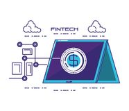 Financial technology set icons. Vector illustration design Royalty Free Stock Photography